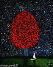 Australian Cattle Dog Red Heeler tree Art PRINT Todd Young painting NIGHT STARS
