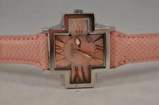 New Ladies Exotic Locman Pink Plus Cross Unique Case Roman Numerics Watch