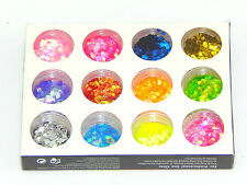 Nail Art Glitter Hexagon Sequins Tips Decoration Acrylic UV Gel 12 Colors