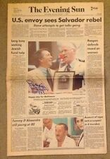 Orioles Brooks Robinson Autograph Baltimore Evening Sun 8/1 1983 Auto Newspaper