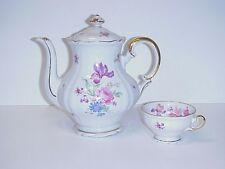 HUTSCHENREUTHER INGEBORG BAVARIA GERMANY TEAPOT COFFEE POT & CUP