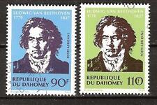 Dahomey # C129-30 Used Ludwig Van Beethoven Composer