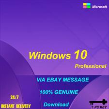 INSTANT WINDOWS 10 PROFESSIONAL PRO 32|64 BIT GENUINE ACTIVATION KEY LICENSE XIN