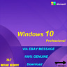 INSTANT WINDOWS 10 PROFESSIONAL PRO 32|64 BIT GENUINE ACTIVATION KEY LICENSE XIN