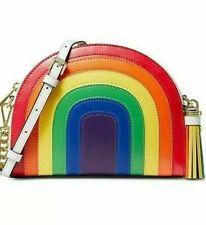 🌺🌹 Michael Kors Rainbow Half Moon Crossbody Rainbow/Gold