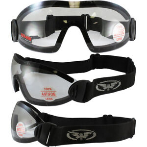 FLARE SHATTERPROOF ANTI FOG SKYDIVE SKY DIVING GOGGLES CLEAR BY GLOBAL VISION