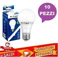 10 LAMPADINA LAMPADA LED V-TAC DA 7W E27 LED SMD LUCE FREDDA 6000K