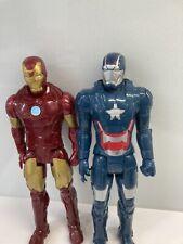"Marvel Avengers Iron Man & Iron Patriot 12"" Figures"