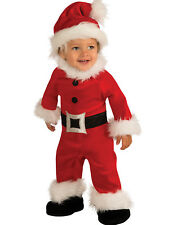 Toddler Boys Santa Claus Romper Warm Christmas Fancy Halloween Costume NB (6-12)
