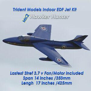 1x Indoor Radio Control Mk2 Hawker Hunter Depron CNCcut EDF Micro Fan Jet Model