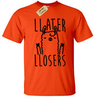 Kids Boys Girls llater llosers Funny Llama T-Shirt Later losers