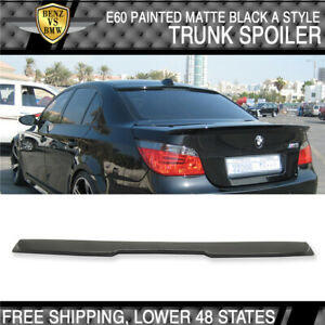 04-10 BMW 5 Series E60 M5 A Style Roof Spoiler Painted Matte Black - ABS