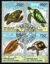 Animaux Tortues Cote d'Ivoire (171) série complète 4 timbres oblitérés