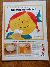 1957 United Fruit Company Ad Sip A Banana 1957 Sanka Coffee Ad Cowboy