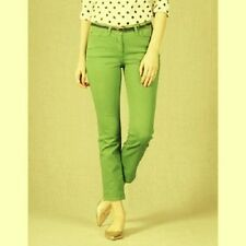 NWT $78 BODEN WOMEN'S GREEN CROPPED STRAIGHT LEG JEANS PANTS WC149 - SIZE US 2R