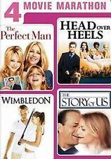 4 Movie Marathon Perfect Man/Head Over Heels/Wimbledon/The Story of Us DVD NEW