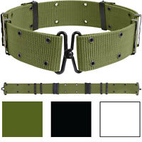 Norwegian OD Army Suspenders Heavy Duty Construction Fully Adjustable up to 42