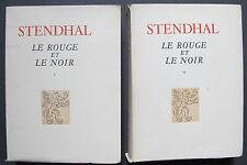 STENDHAL LE ROUGE ET LE NOIR 2TOMES CHRONIQUE DU XIX ALBERT GUILLOT GRIFFON 1948