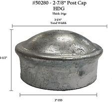 """FOUR 2-7/8"""" Pressed Post Caps - Galvanized 50280"""