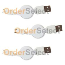 3 USB Retract Micro Cable for Phone Samsung Rugby 4/LG G2 G3 G4 K3 K4 K7 K10 V10