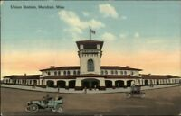 Meridian MS Union Station c1910 Postcard jrf SCARCE ANGLE