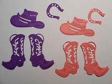 Cowgirl Boots Hat Horseshoe Paper Die Cuts x 2 Sets Scrapbooking Embellishment