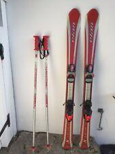 "Kids Skis And Poles Bundle Red Length 43"""