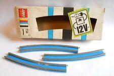 3x Lego Binari Alt-Hell Grigio Metallo Curvata Curva Treno 12V 3241