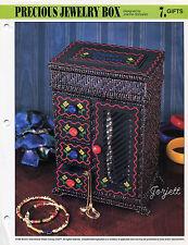Precious Jewelry Box, Annie's plastic canvas pattern