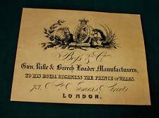 BOSS & Co gunmaker riproduzione carta Gun Case Accessori etichetta