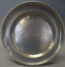 Zinn-Teller, undeutliche Punze, um 1830, D-23,5 cm (246/10141)