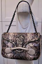 Bottega Veneta Karung and Ayres Snakeskin Shoulder Bag NWT Retail Price $4900