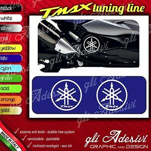Set 2 Adhesives Motorcycle Tuning Tmax T Max Dimmer Logo Mod 2