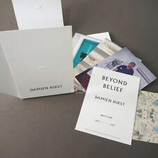 Nuevo más allá de la creencia Postal Damien Hirst conjunto de arte moderno contemporáneo