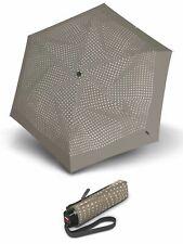 Knirps TS.010 Slim Small Manual Regenschirm Accessoire Bolero Taupe Beige Weiß
