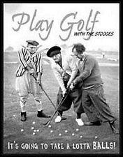 Giocare a golf con il FANTOCCI DIVERTENTE Cartello in metallo (DE)