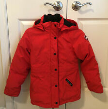 Canada Goose Red Down Parka Big Kid Youth size Medium (10-12 years)