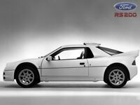 FORD RS200 SHOWROOM RETRO POSTER PRINT CLASSIC 80'S ADVERT A3