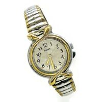 TIMEX Women Dress Watch SR 621SW Two Tone Stainless Steel Expansion Band Analog