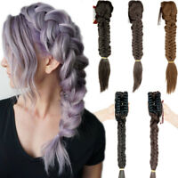 Sythentic Women Hair Extensions Claw Ponytail DIY Long Braid Thick Real As Human