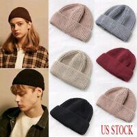 US Men's Women Beanie Knit Ski Cap Hip-Hop Soft Winter Warm Unisex Wool Miki Hat