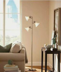 Hampton Bay 64 ½ inch Brushed Nickel Floor Lamp 528 299 NIB Conference call must
