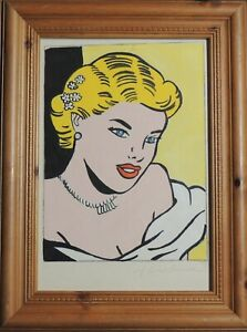 """Roy Lichtenstein Untitled Painting,1963 .Study for a """"Girl at Piano"""""""