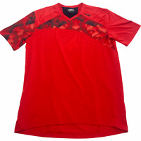 Louis Garneau Andes Mountain Bike Jersey Bright Red Men's Medium Rear Zip Pocket