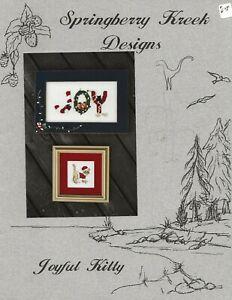 Joyful Kitty Springberry Kreek Designs cross stitch chart cat Christmas
