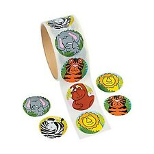 JUNGLE SAFARI PARTY Stickers Zoo Animal Lion Tiger Zebra Pack of 50 Free Postage