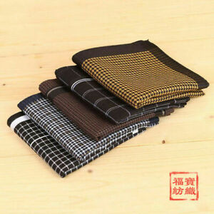 Quality Cotton Business Plaids Checks Handkerchief Hanky Pocket Square 45*45CM