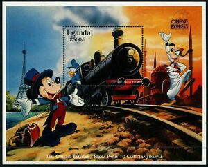 DISNEY - Uganda 1996 'MICKEY ON THE ORIENT EXPRESS' Miniature Sheet MNH [B4746]