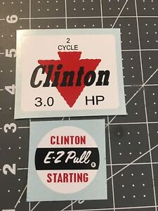 Clinton engine decal set 2 Cycle 3 hp E-Z Pull Set 2 Panther Go Kart Minibike