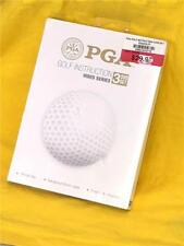 PGA GOlf Instruction Video Series 3 DVD Set 3 1/2 hrs TNM Media Model AV200R